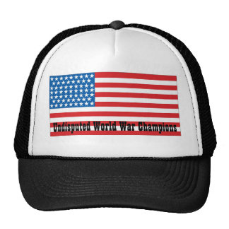 Campeones indiscutibles de la guerra mundial gorras