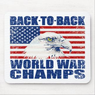 Campeones llevados vintage Eagle de la guerra mund Mouse Pad