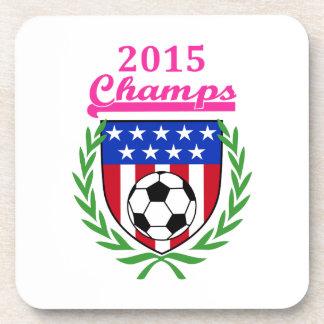Campeones para mujer del fútbol posavasos de bebidas