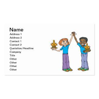 Campeones que ruedan de los pares tarjetas de visita
