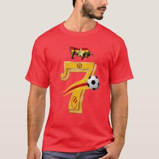 Campeones siete del mundo del fútbol del número 7 playera