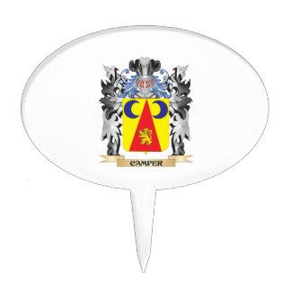 Camper Coat of Arms - Family Crest Cake Picks