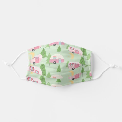 Camper Fun Pink Glamping Cloth Face Mask