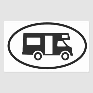 Camper Oval Rectangular Sticker