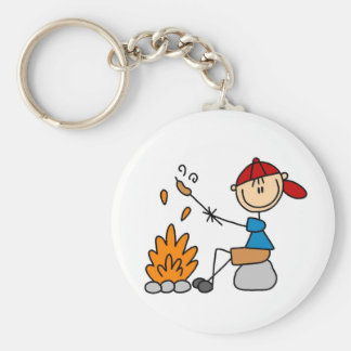 Camper Roasting Hot Dogs Tshirts and Gifts Basic Round Button Keychain