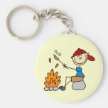 Camper Roasting Hot Dogs Tshirts and Gifts Keychains