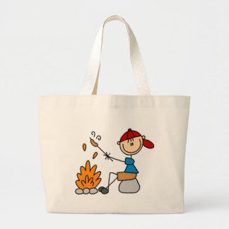 Camper Roasting Hot Dogs Tshirts and Gifts Large Tote Bag