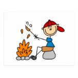 Camper Roasting Hot Dogs Tshirts and Gifts Postcard