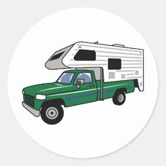 Camper Truck Classic Round Sticker