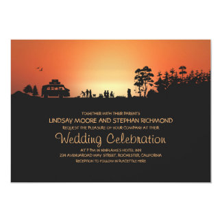 Camper van Camping Wedding Invitations