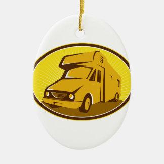 Camper Van Mobile Home Retro Ceramic Ornament