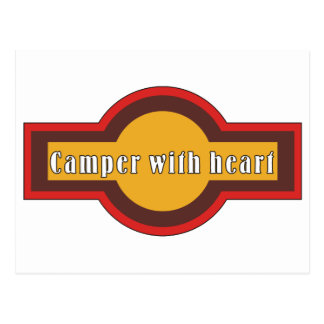 Camper with heart postcard