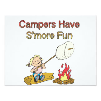 Campers have S'more fun 4.25x5.5 Paper Invitation Card