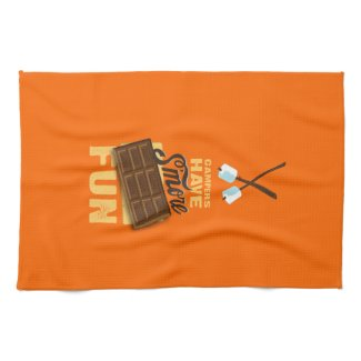 Campers Have S'more Fun Glamping Banner Kitchen Towels