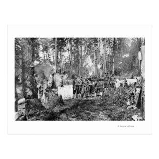 Campers Posing Postcard