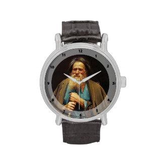 Campesino de Ivan Kramskoy- con un freno Reloj