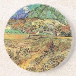 Campesino incluido del campo de trigo w de Vincent Posavasos Para Bebidas