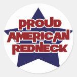 Campesino sureño americano orgulloso pegatina redonda