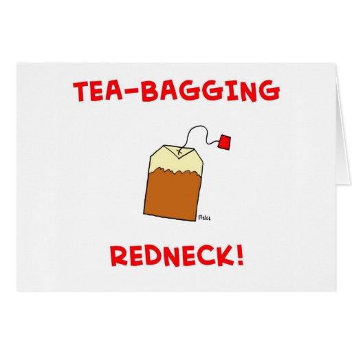 campesino sureño del té-empaquetamiento tarjeta de felicitación