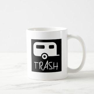Campesino sureño mudo pobre de la basura blanca de taza básica blanca