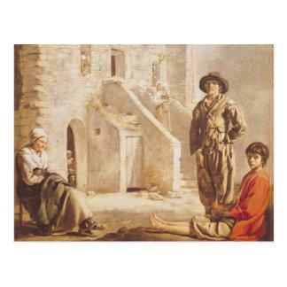 Campesinos antes de su casa, c.1641 postal