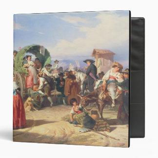 """Campesinos de la Campaña, 1860 (aceite en lona) Carpeta 1 1/2"""""""