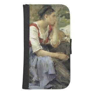 Campesinos de reclinación, 1877 billetera para galaxy s4