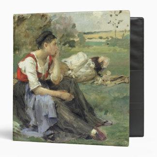 """Campesinos de reclinación, 1877 carpeta 1 1/2"""""""