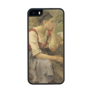 Campesinos de reclinación, 1877 funda de arce carved® para iPhone 5 slim