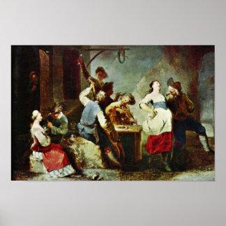 Campesinos del baile de Zick Januarius la mejor c Posters