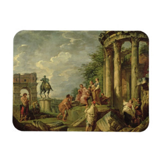 Campesinos entre las ruinas romanas, 1743 (aceite  iman de vinilo