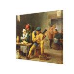 Campesinos que hacen la música en un mesón, c.1635 impresiones en lona estiradas