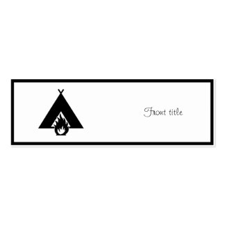 Campfire and Tent Symbol Business Card