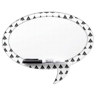Campfire and Tent Symbol Dry Erase Board