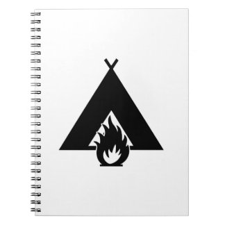 Campfire and Tent Symbol Note Book