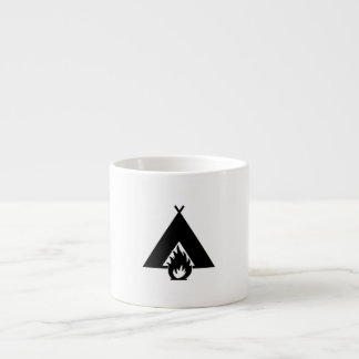 Campfire and Tent Symbol Espresso Cup