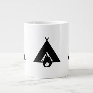 Campfire and Tent Symbol Jumbo Mugs