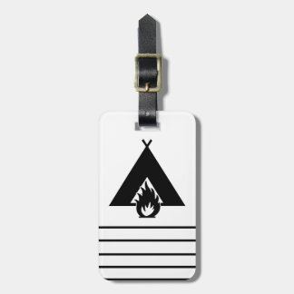 Campfire and Tent Symbol Tags For Luggage