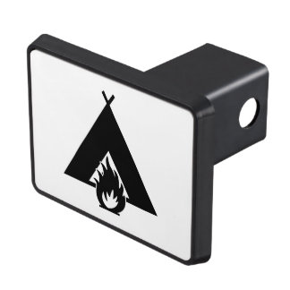 Campfire and Tent Symbol Trailer Hitch Cover