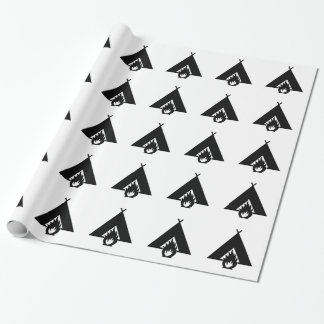 Campfire and Tent Symbol Wrapping Paper
