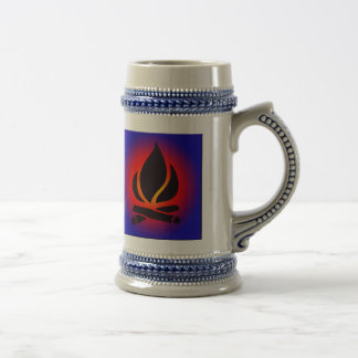 Campfire at Sunset Beer Stein