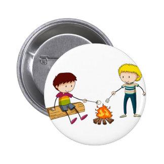 Campfire 2 Inch Round Button