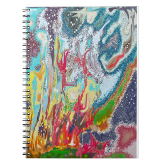 Campfire - Colorful Digital Abstract Painting Notebooks
