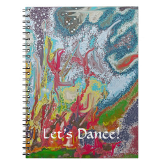 Campfire - Colorful Digital Abstract Painting Spiral Note Book