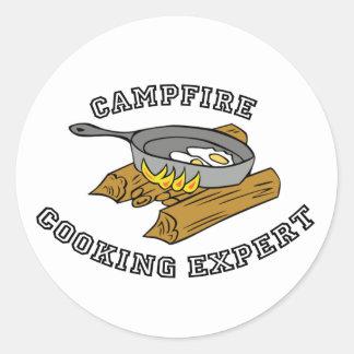Campfire Cooking Expert Classic Round Sticker