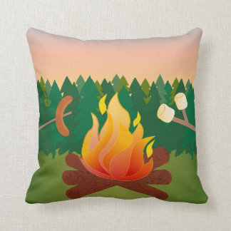 Campfire Cookout Marshmallow Smores Pillow