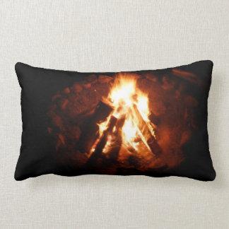 Campfire fire pit lumbar pillow