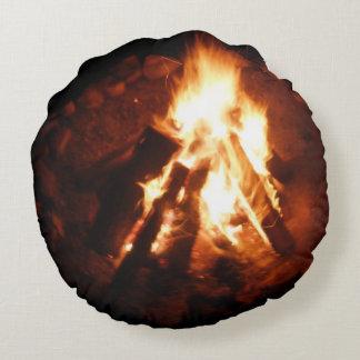 Campfire fire pit round pillow