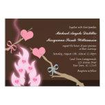 "Campfire Hearts Campground Wedding Invitations 5"" X 7"" Invitation Card"