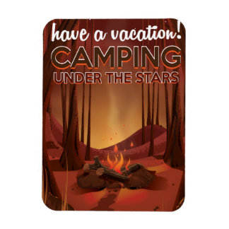 Campfire in the forest. magnet